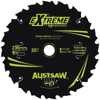 Austsaw Extreme: Wood with Nails Blade 235mm x 25 Bore x 20 T Bulk Pack (x20)
