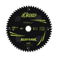 Austsaw Extreme: Wood with Nails Blade 255mm x 30 Bore x 60 T Thin Kerf