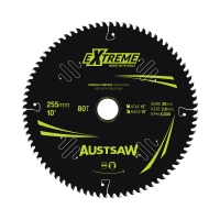 Austsaw Extreme: Wood with Nails Blade 255mm x 30 Bore x 80 T Thin Kerf