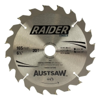 Austsaw Raider Timber Blade 165mm x 20/16 Bore x 20 T Thin Kerf