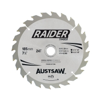 Austsaw Raider Timber Blade  10 Pack 185mm x 20/16 Bore x 24 T