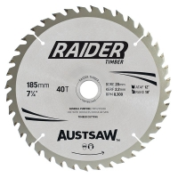 Austsaw Raider Timber Blade 185mm x 20/16 Bore x 40 T