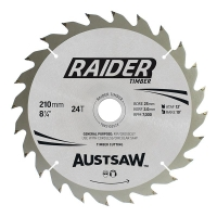 Austsaw Raider Timber Blade 210mm x 25/16 Bore x 24 T Thin Kerf