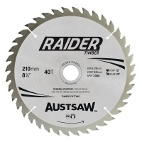 Austsaw Raider Timber Blade 210mm x 25/16 Bore x 40 T Thin Kerf