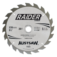 Austsaw Raider Timber Blade 235mm x 25 Bore x 20 T Thin Kerf