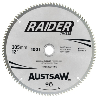 Austsaw Raider Timber Blade 305mm x 30 Bore x 100 T Thin Kerf