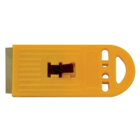 Yellow Plastic Scraper with 1 blade(carded)