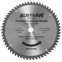 Austsaw - 300mm (12in) Thin Kerf Timber Blade - 25.4mm Bore - 100 Teeth