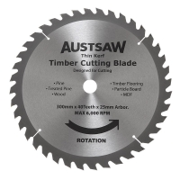 Austsaw - 300mm (12inin) Thin Kerf Timber Blade - 25.4mm Bore - 40 Teeth
