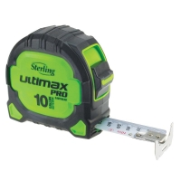 Sterling Ultimax Pro Tape Measure Easyread: 10m Metric