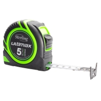 Sterling Ultimax Tape Measure Easyread: 5m Metric