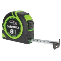 Sterling Ultimax Tape Measure Easyread: 8m x 25mm Metric