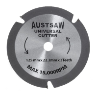 Austsaw - 125mm (5in) Universal Cutter - 22.2mm Bore - 3TCT Teeth
