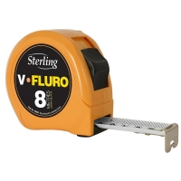 8m x 25mm V-Force Fluro Measuring Tape